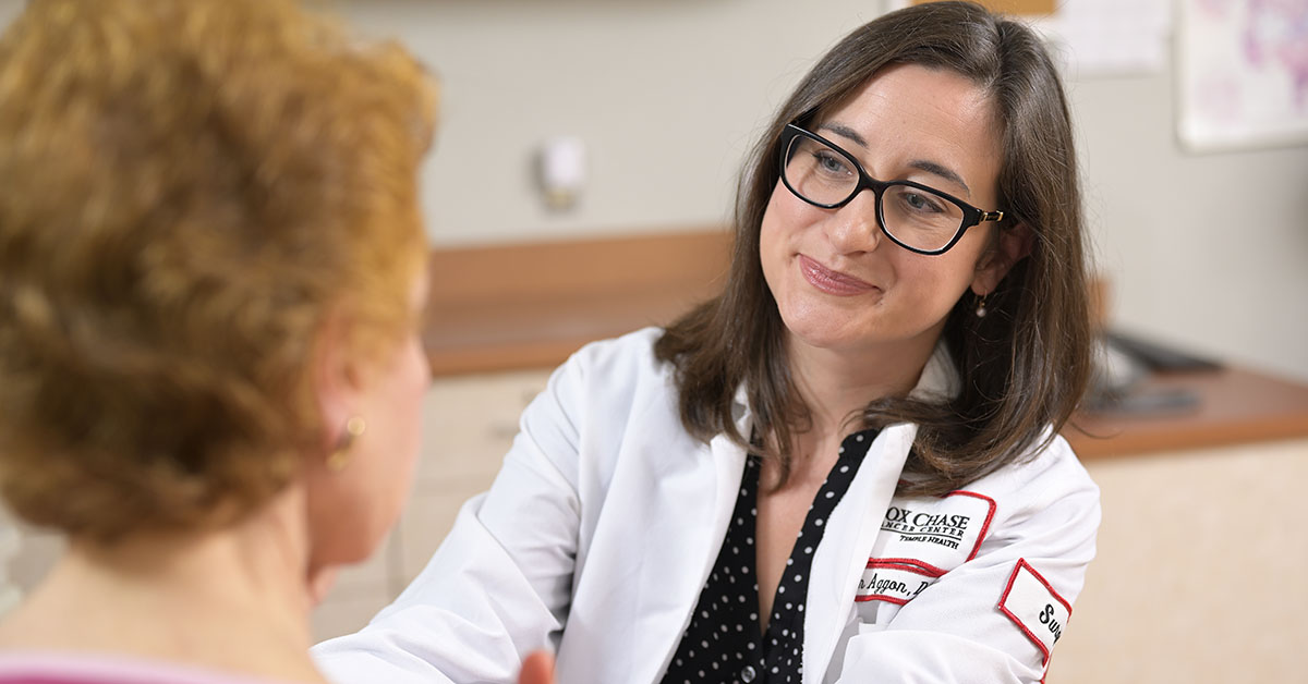 Allison A. Aggon, DO, FACOS, Assistant Professor, Department of Surgical Oncology, surgical practice is focused exclusively on patients with breast cancer, those at high risk for it, and those with complex benign breast conditions.