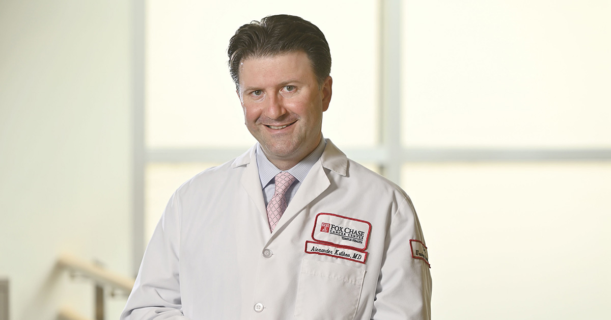 Dr. Alexander Kutikov, co-author of the studies and chief of the Division of Urology and Urologic Oncology at Fox Chase