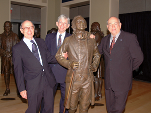 Left to right: Ernie Rose; Alfred Knudson, MD, PhD; Baruch Blumberg, PhD, 2004