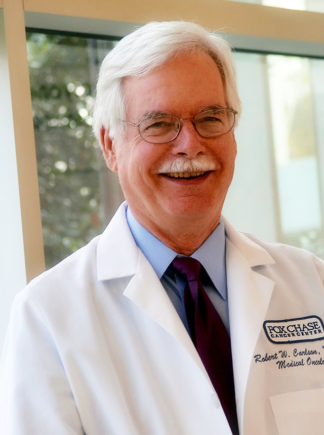 Robert W. Carlson, MD, chief executive officer of the NCCN and an attending physician at Fox Chase.