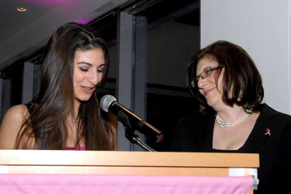 Eliza honored her mother as she addressed the guests at the inaugural Tickled Pink event in 2009.