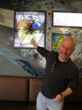 Roland Dunbrack, PhD, contributed suggestions for a protein incorporated into the mural.