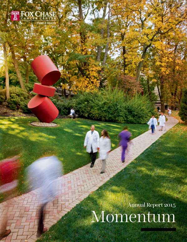 See a PDF of the 2015 Fox Chase Cancer Center Annual Report