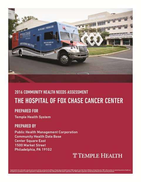 Fox Chase Cancer Center Community Health Needs Assessment 2016