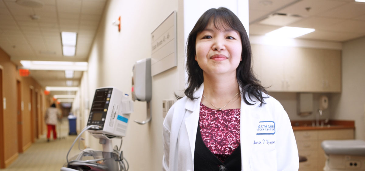 Minhhuyen Nguyen, the Director of Clinical Gastroenterology, has extensive clinical experience with treating both Gastroesophageal Reflux Disease (GERD) and Barrett's Esophagus.