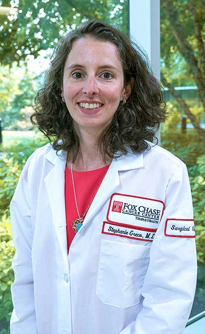 Dr. Greco will join the Department of Surgical Oncology on September 3, focusing on melanoma, sarcoma, and GI.