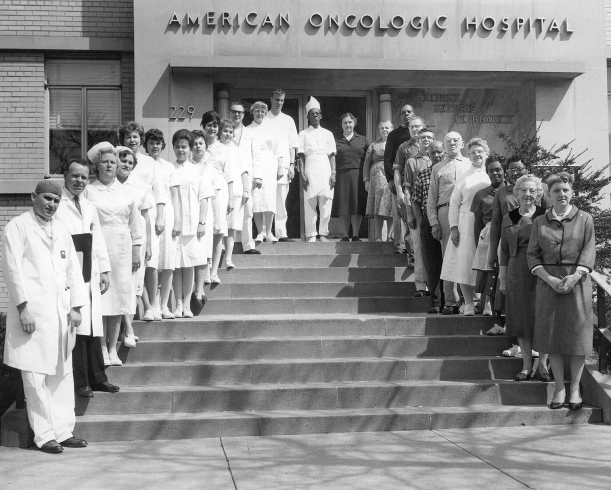 In 1904, a group of Philadelphia physicians and business professionals established the American Oncologic Hospital, one of the country's first hospitals devoted exclusively to cancer which laid the foundation for Fox Chase Cancer Center.