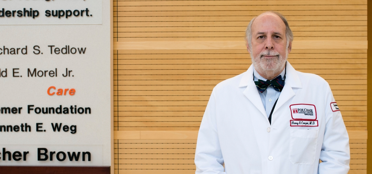 Harry Cooper is a pathologist in Fox Chase's Pathology Department, one of the top programs in diagnosing and studying cancer.
