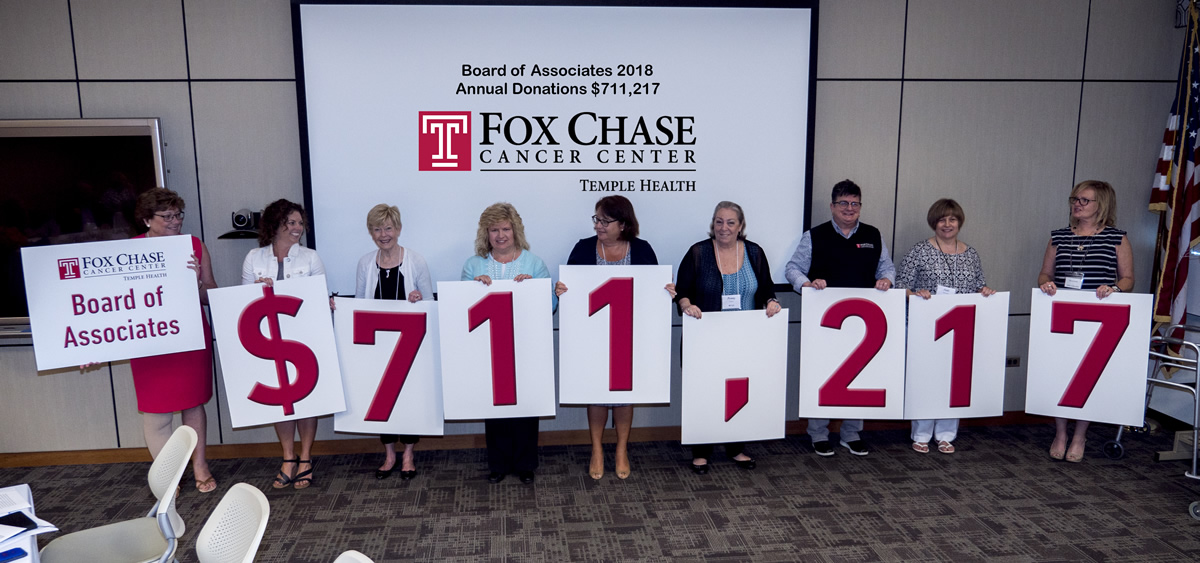 Chapter presidents present check to Fox Chase