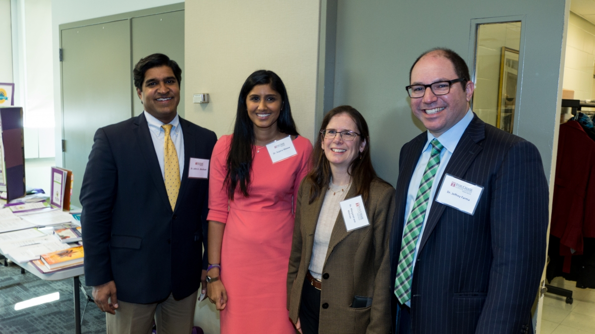 Fox Chase physicians: John Abraham, Sujana Movva, Margaret von Mehren, and Jeffrey Farma