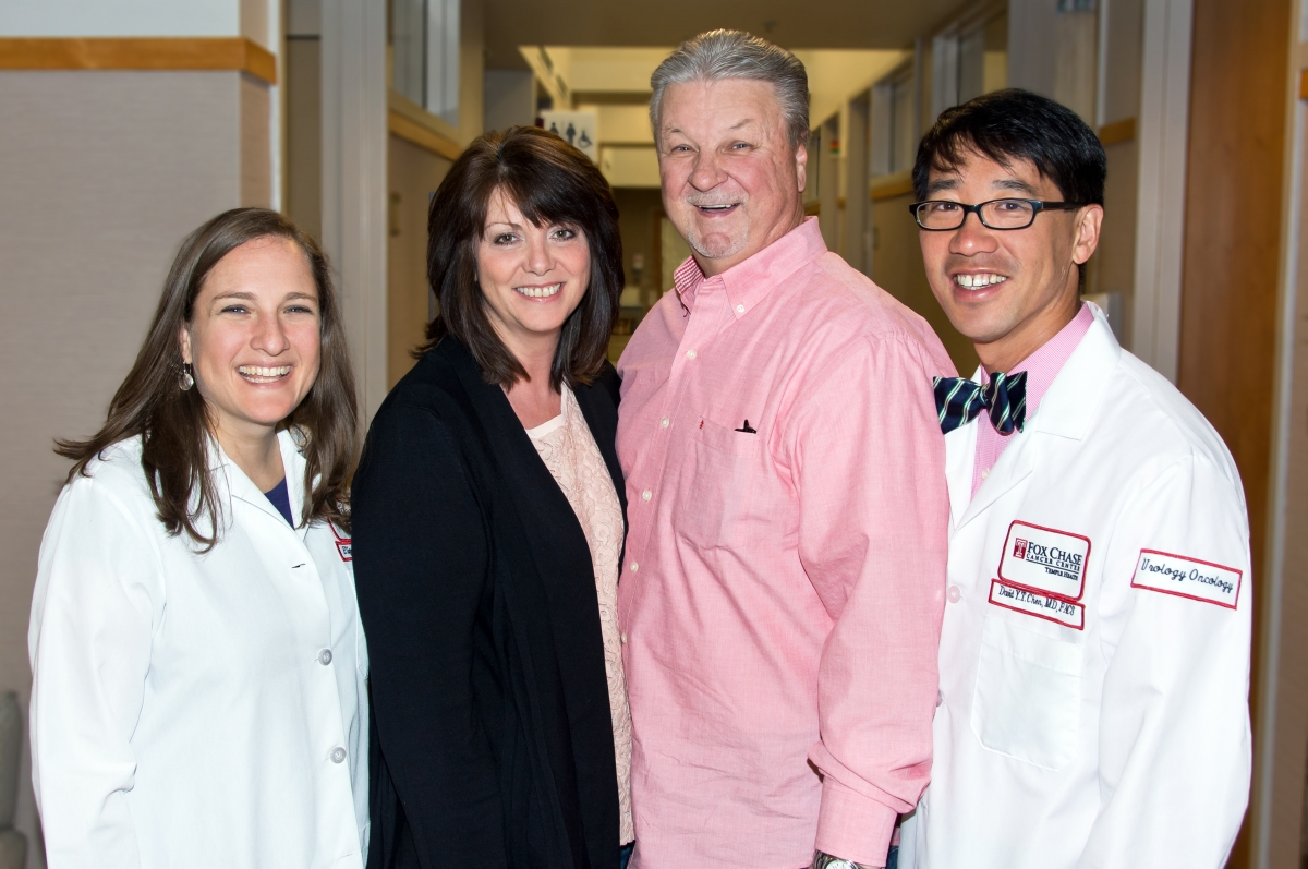 Dr. Plimack, Michele and Michael Fenick and Dr. Chen.