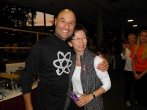 Charlie Lustman, singer, songwriter and cancer survivor, posed for a photo with Susan after his performance.