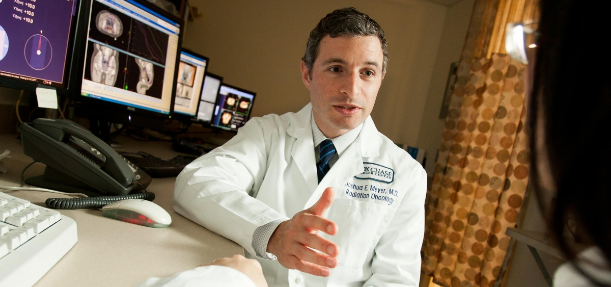 Joshua Meyer, as an attending physician in the Department of Radiation Oncology, specializes in treating Neuroendocrine Tumors using stereotactic radiation or the delivery of short courses of radiation, with the highest accuracy, while minimizing the risk of side effects to patients.
