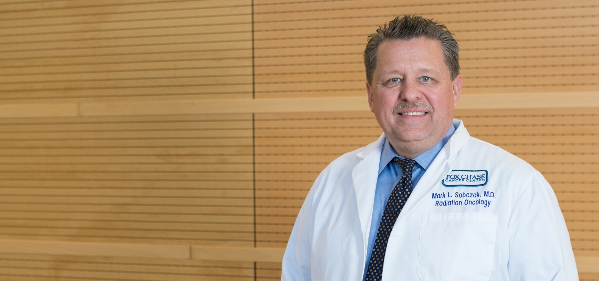 Mark Sobczak, an attending physician in the Department of Radiation Oncology, utilizes advanced radiation technology to treat patients with testicular cancer.