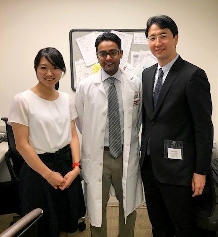 Dr. Reddy with visiting surgeon, Dr. Tomoki Makino and his wife, Dr. Saho Makino