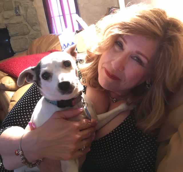 Sue Serio, Good Day Philadelphia Weather Anchor, with Rufus