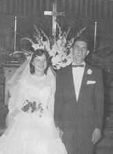 Genevieve and her husband, Bruce, on their wedding day in 1957.