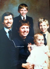 The Stachura family in 1984 - before they confronted cancer.