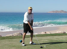 Barry golfing in Cabo San Lucas, Mexico.