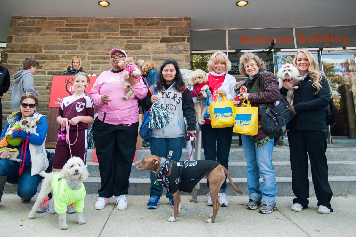 Participants at Paws for the Cause Annual Dog Walk