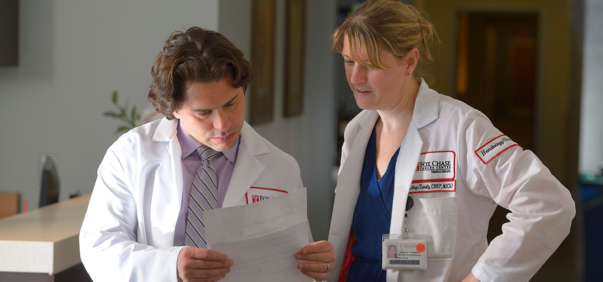 Matthew R. Zibelman, MD, and Kathryn Tumelty, CRNP, FNP-C, AOCNP