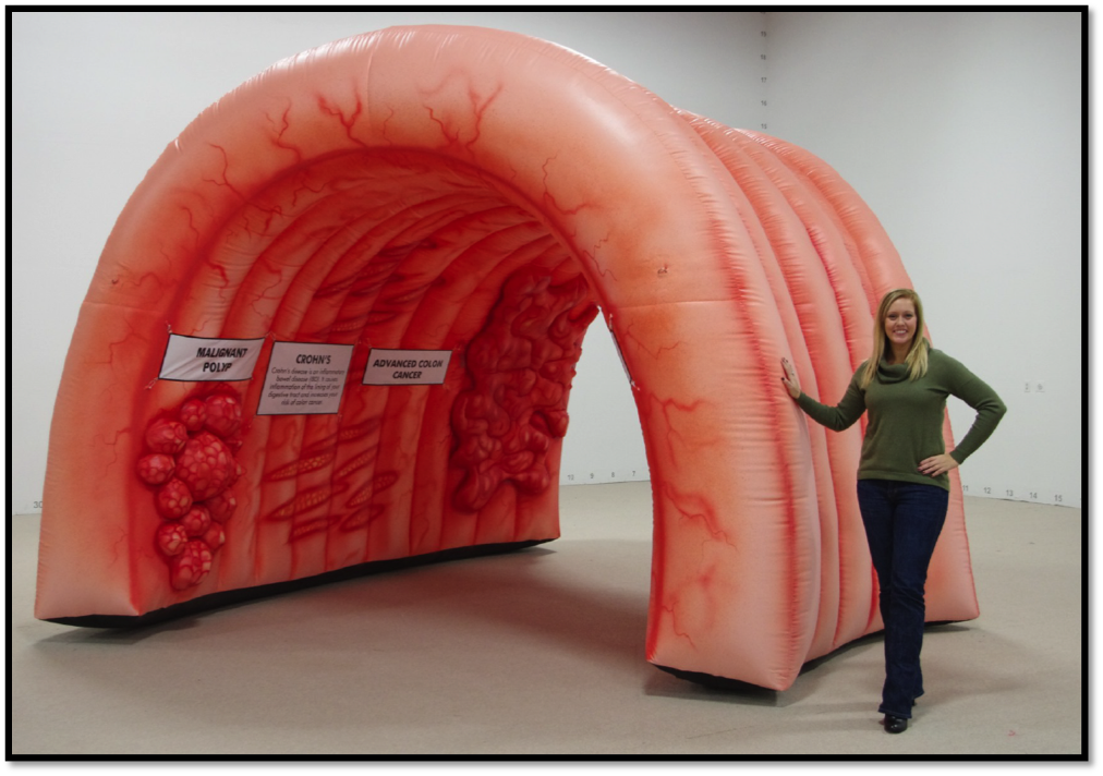 Yes, a giant colon.