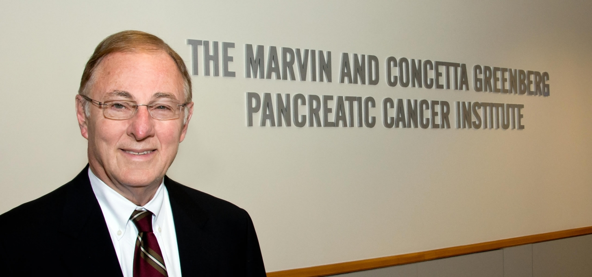 Richard Fisher, MD, President and CEO, at the new Marvin and Concetta Greenberg Pancreatic Cancer Institute at Fox Chase Cancer Center.