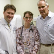 Dr. Alex Kutikov, Lisa Hicks, RN, and Ted, meet before his appointment.