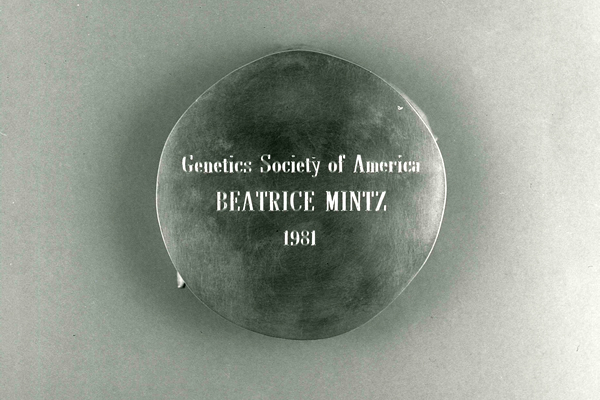 Genetics Society of America to Beatrice Mintz, 1981