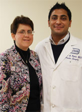 Kathy and Dr. Sameer Patel, her plastic and reconstructive surgeon.