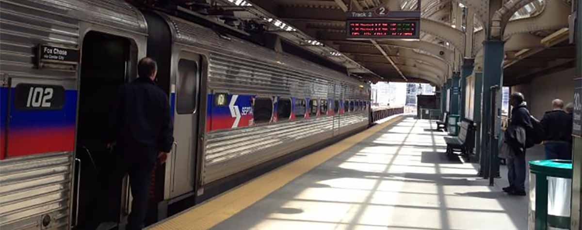 SEPTA commuter train platform