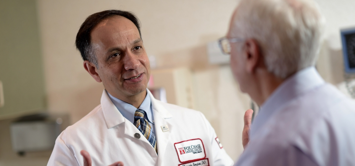 Hossein Borghaei, DO, heads the thoracic oncology program at Fox Chase. He is active in treating patients with lung cancer, as well as cancer research.