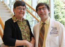 Roseann pictured with former Fox Chase radiation oncologist Dr. Gary Freedman.
