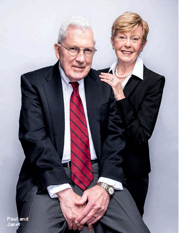 Dr. Engstrom and his wife Janet