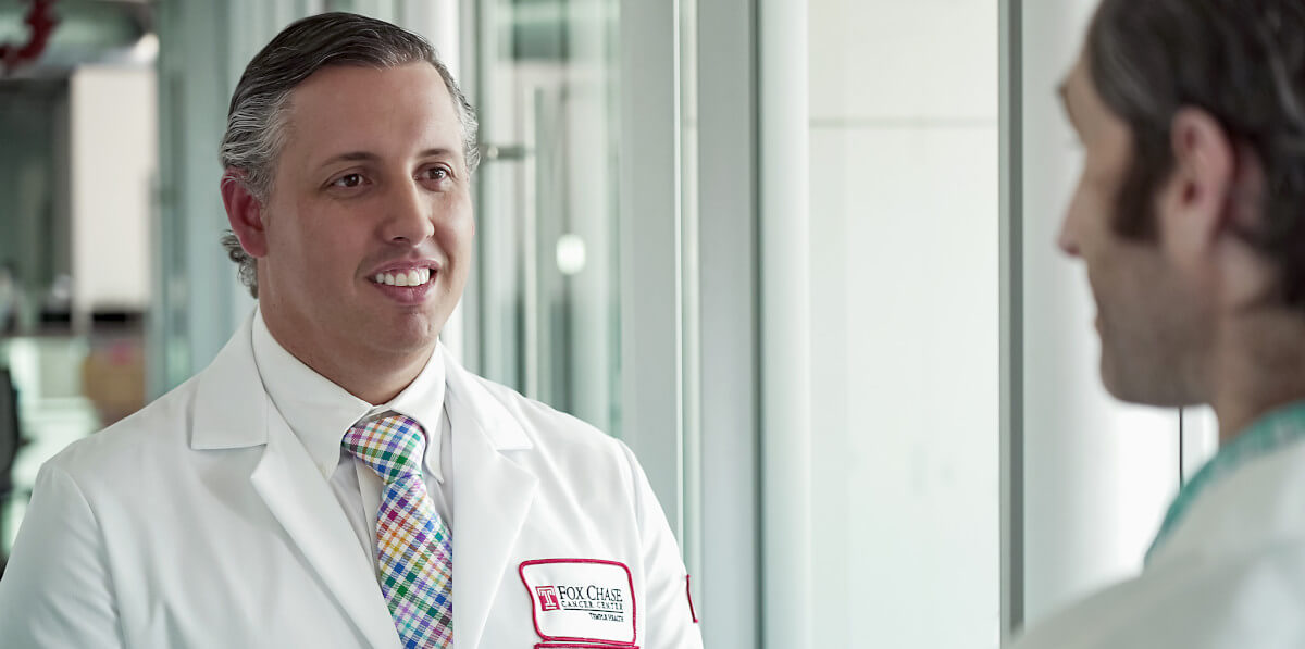 Dr. Andres Correa and his colleagues on the urologic oncology team at Fox Chase are now using the micro-ultrasound system for prostate biopsies. This technology allows for 300-percent higher-resolution imaging over traditional transrectal ultrasound and allows for targeted biopsies of suspicious lesions.