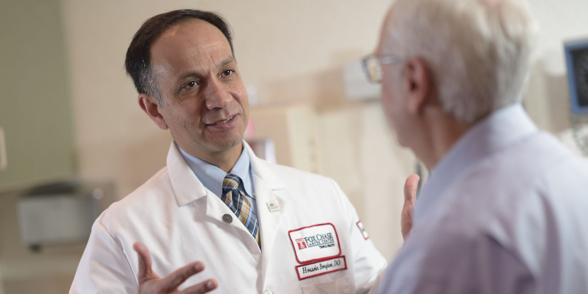 Hossein Borghaei, DO, MS, a medical oncologist at Fox Chase Cancer Center, works with a multidisciplinary care team to offer advanced treatment options to mesothelioma patients.