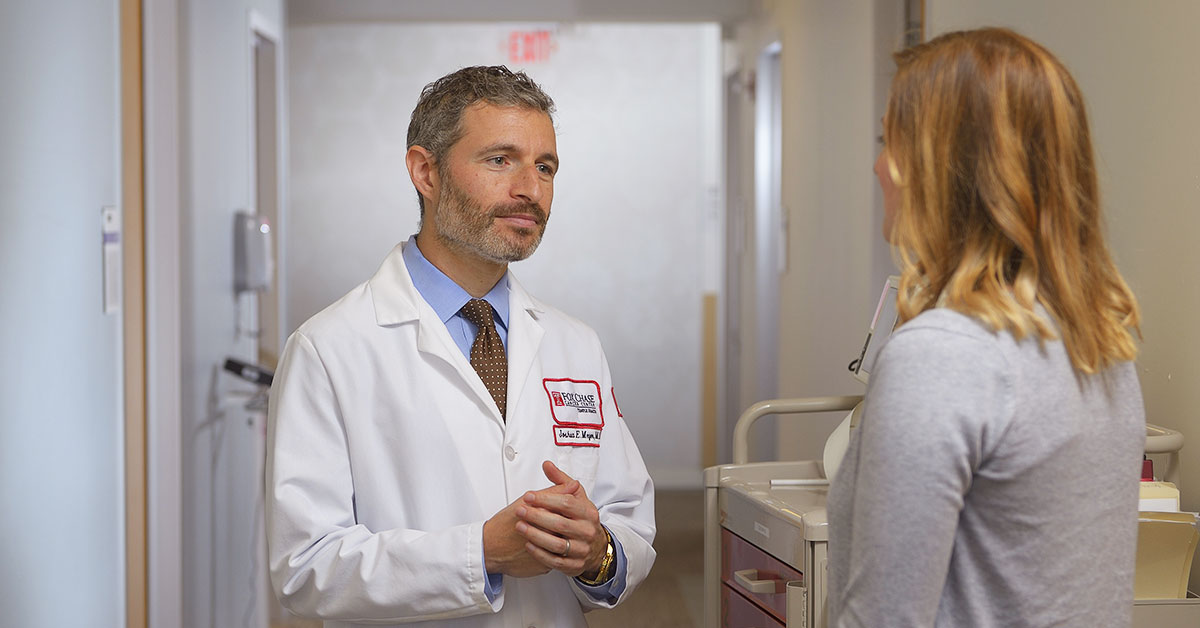 Joshua E. Meyer, MD treats patients with all kinds of radiation, external radiation and 3D conformal radiation which was in many ways pioneered and developed here at Fox Chase Cancer Center.