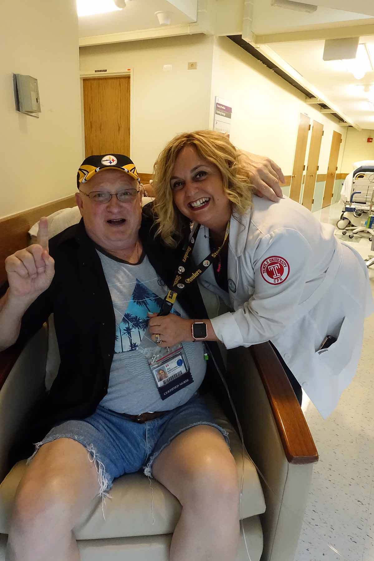 Jill Ranochak and beloved patient Joe, who inspires her every day.