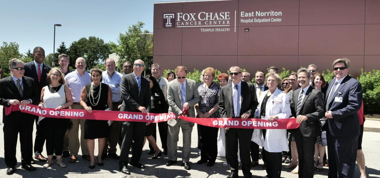 Ribbon cutting at Fox Chase Cancer Center East Norriton—Hospital Outpatient Center, June 15, 2018
