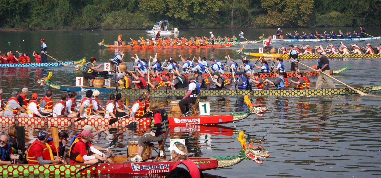 The Dragon Boat Races, first weekend in October.