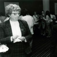 Jenny Glusker (left) and Beatrice Mintz, 1981